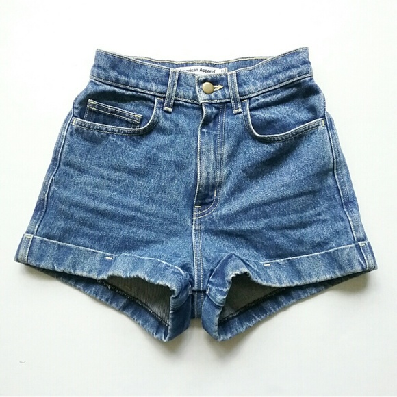 American Apparel Pants - American Apparel High Waist Jean Shorts